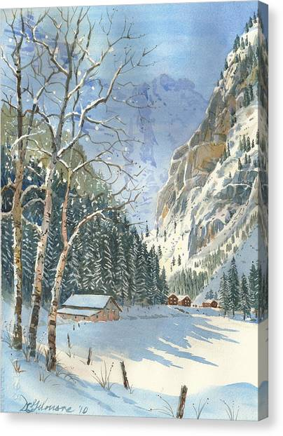 Brunni Valley In Canton Uri Canvas Print