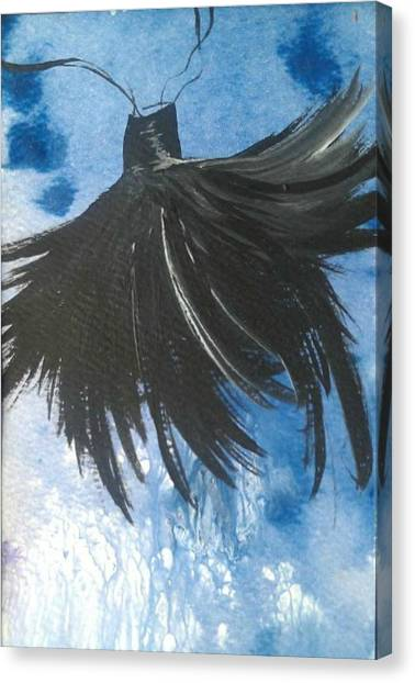 Brush With The Dark Side Canvas Print by Tree Girly