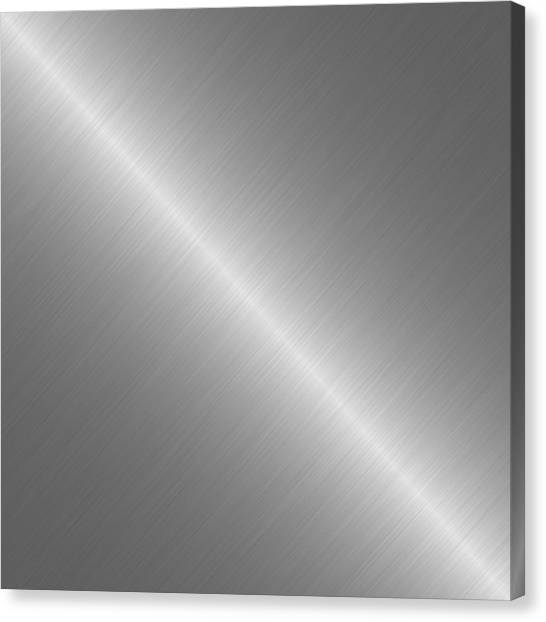 Brushed Steel Metal Texture 1 Canvas Print by REDlightIMAGE