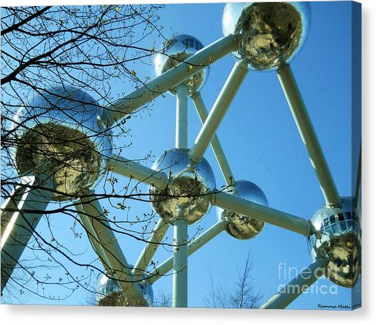 Brussels Urban Blue Canvas Print