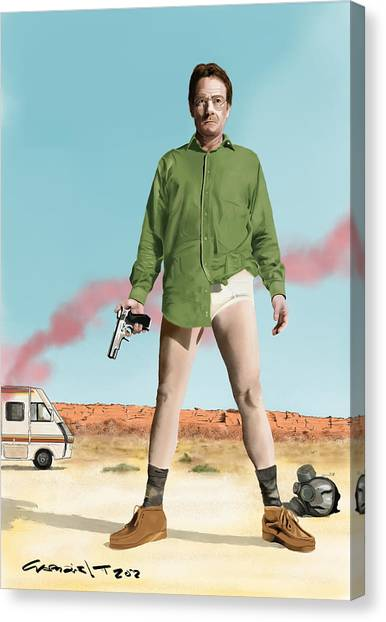 Bryan Cranston As Walter White  @ Tv Serie Breaking Bad Canvas Print