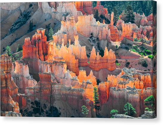 Bryce Canyon At Sunrise Canvas Print