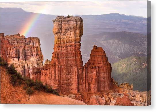 Bryce Canyon In Rain Canvas Print