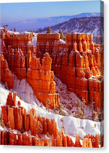 Bryce Canyon In Snow Canvas Print