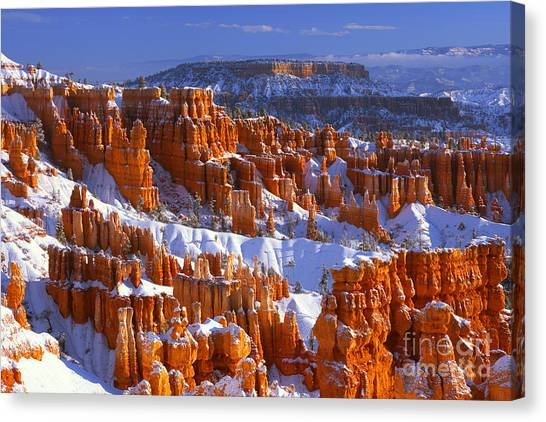 Bryce Canyon In Winter Canvas Print
