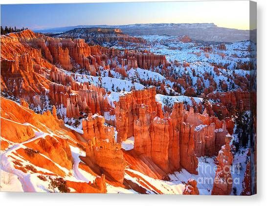 Bryce Canyon Winter Canvas Print