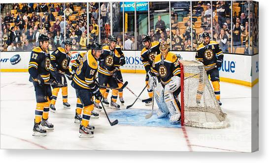 Boston Bruins Canvas Print - B's Nest by Scott Thorp