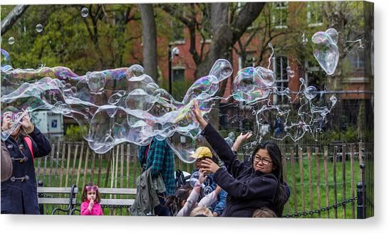 Bubble Attack Canvas Print