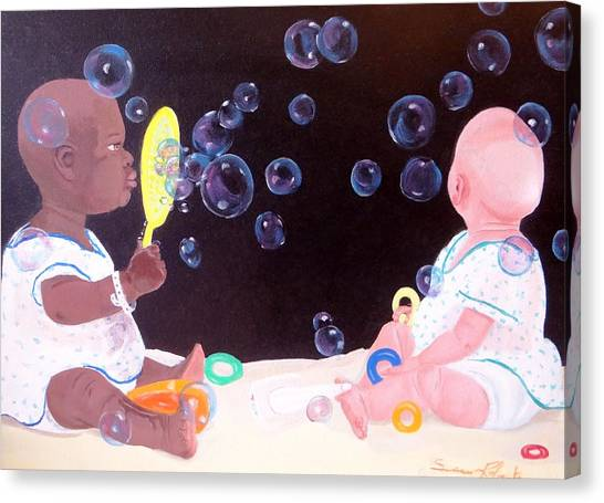 Bubble Babbies  Canvas Print