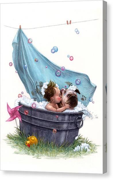 Bubble Bath Canvas Print by Isabella Kung