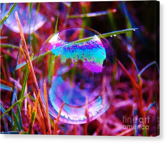 Bubble Illusions 2 Canvas Print by Judy Via-Wolff