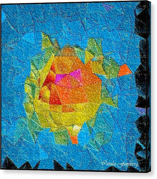 Bubble Kubism Canvas Print by Carola Ann-Margret Forsberg