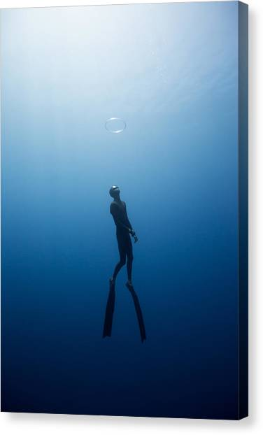Bubble Ring Canvas Print by One ocean One breath