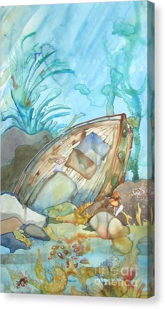 Bubble Ship Wreck Canvas Print by Maya Simonson