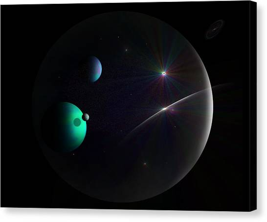Bubbled Universe Canvas Print by Ricky Haug