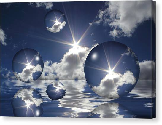 Bubbles In The Sun Canvas Print