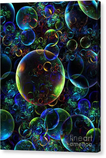Bubbles Orgy 2 Canvas Print