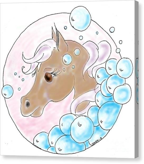 Bubbles Profile Canvas Print