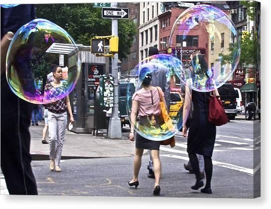 Bubblewalk Canvas Print by Heidi Horowitz