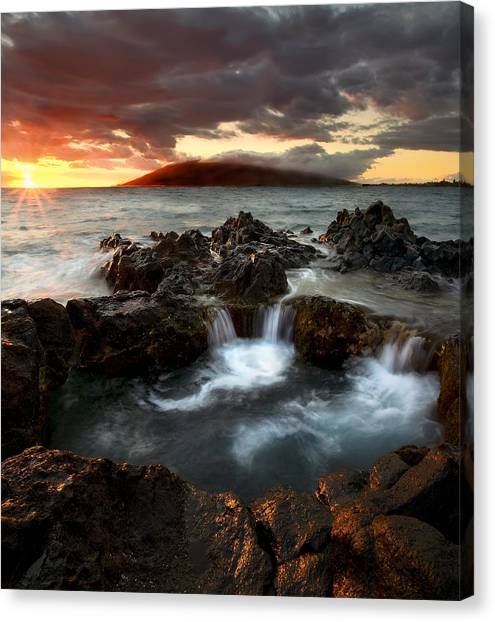 Lava Canvas Print - Bubbling Cauldron by Mike  Dawson