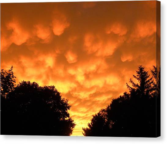 Bubbling Sky Canvas Print