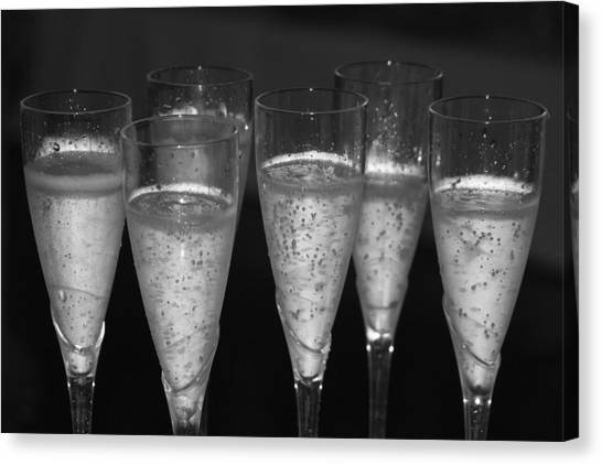 Champagne Canvas Print - Bubbly II by Bonnes Eyes Fine Art Photography