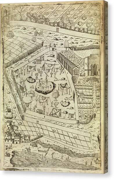 Vegetable Garden Canvas Print - Bubonic Plague Quarantine Site by Middle Temple Library