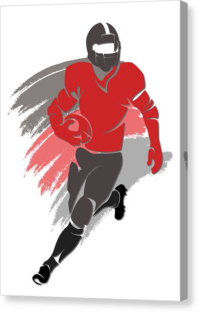 Tampa Bay Buccaneers Canvas Print - Buccaneers Shadow Player2 by Joe Hamilton