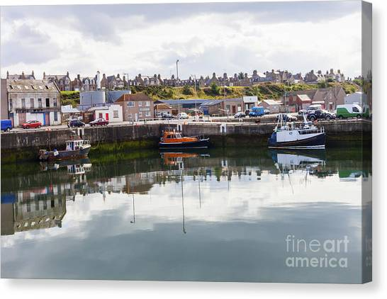 Buckie Harbour Canvas Print