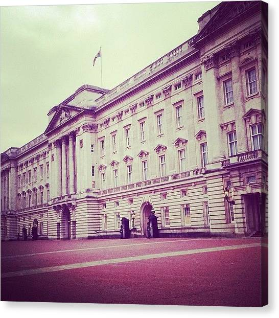 Royal Guard Canvas Print - Buckingham Palace by Lizzie Gibson