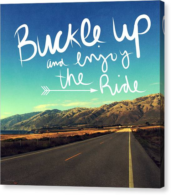 Postcards Canvas Print - Buckle Up And Enjoy The Ride by Linda Woods