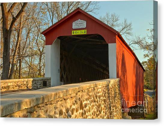 Bucks County Van Sant Covered Bridge Canvas Print