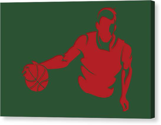 Milwaukee Bucks Canvas Print - Bucks Shadow Player1 by Joe Hamilton