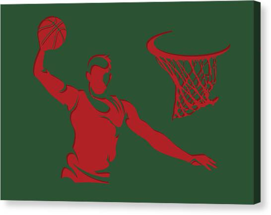 Milwaukee Bucks Canvas Print - Bucks Shadow Player2 by Joe Hamilton