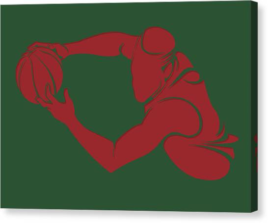 Milwaukee Bucks Canvas Print - Bucks Shadow Player3 by Joe Hamilton