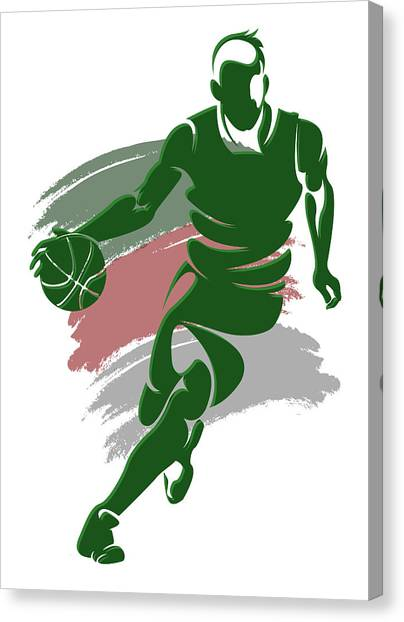 Milwaukee Bucks Canvas Print - Bucks Shadow Player4 by Joe Hamilton