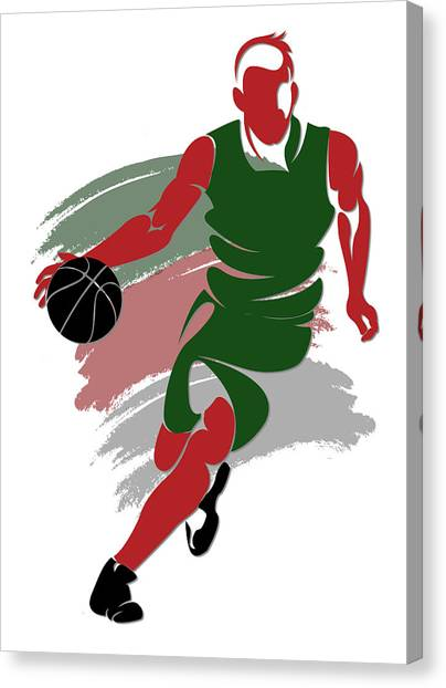 Milwaukee Bucks Canvas Print - Bucks Shadow Player5 by Joe Hamilton
