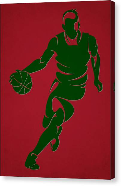 Milwaukee Bucks Canvas Print - Bucks Shadow Player6 by Joe Hamilton