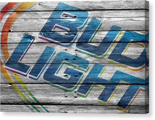 Beer Can Canvas Print - Bud Light by Joe Hamilton