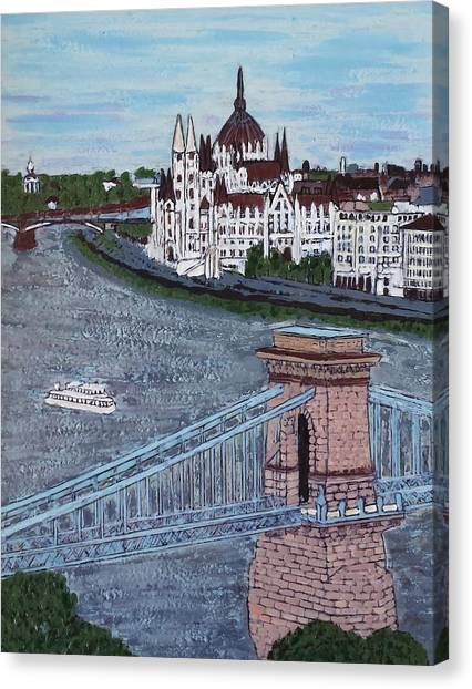 Budapest Bridge Canvas Print