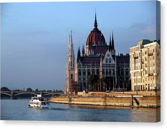 Danube Canvas Print - Budapest, Capital Of Hungary by Ralph Talmont
