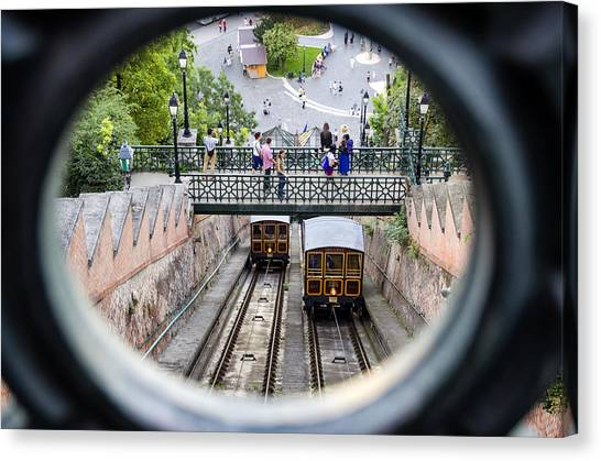 Budapest Castle Hill Funicular Canvas Print