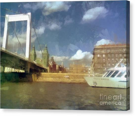 Budapest Elisabeth Bridge Canvas Print