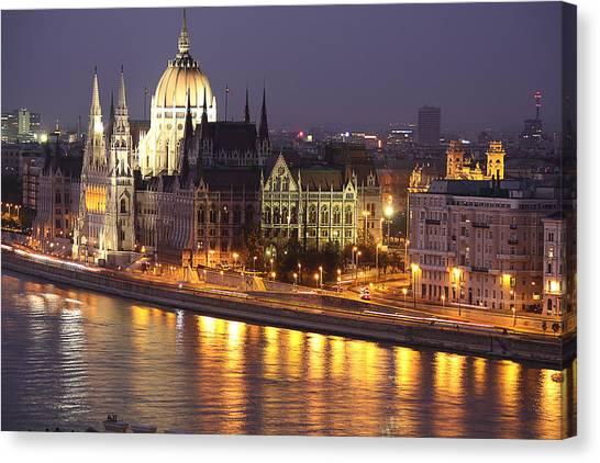 Budapest Parliament Buildings Canvas Print