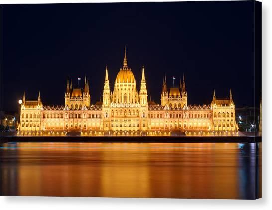 Budapest Parliament Canvas Print by Ioan Panaite