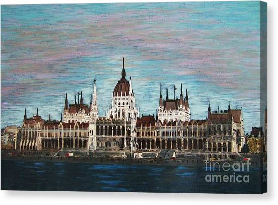 Budapest Parliament By Jasna Gopic Canvas Print