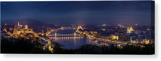 Palace Canvas Print - Budapest by Thomas D M?rkeberg