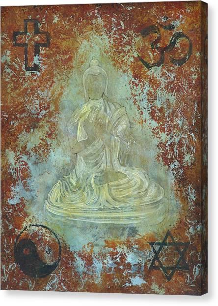 Budda Canvas Print by Jeffrey Oldham