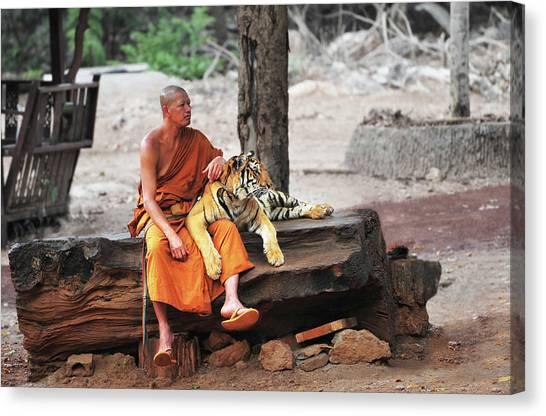 Buddha Adherents Canvas Print by Dmitriy Yevtushyk