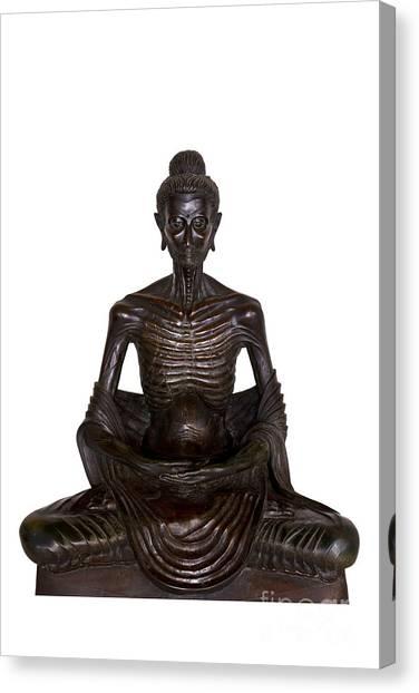 Buddha Attitude Subduing Himself Image Canvas Print
